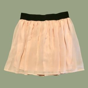 Forever 21 Salmon Pink Skater Skirt